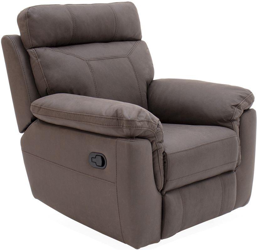 Vida Living Baxter Brown Fabric Recliner Armchair