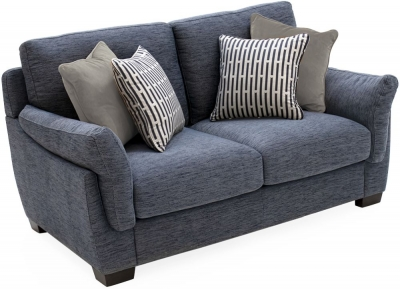 Vida Living Beckett Blue Fabric 2 Seater Sofa