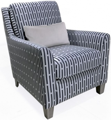 Vida Living Beckett Blue Fabric Accent Chair