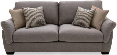 Vida Living Beckett Taupe Fabric 3 Seater Sofa