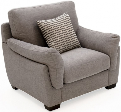 Vida Living Beckett Taupe Fabric Armchair