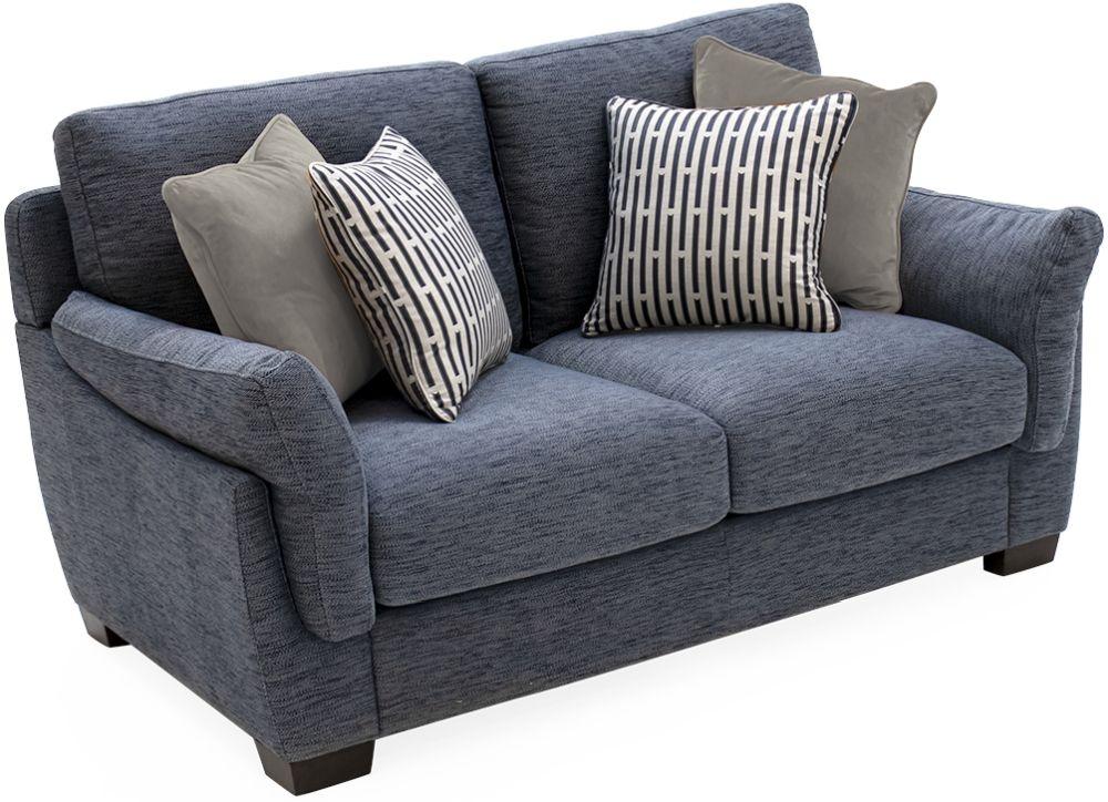 Vida Living Beckett Blue Fabric 2 Seater Sofa