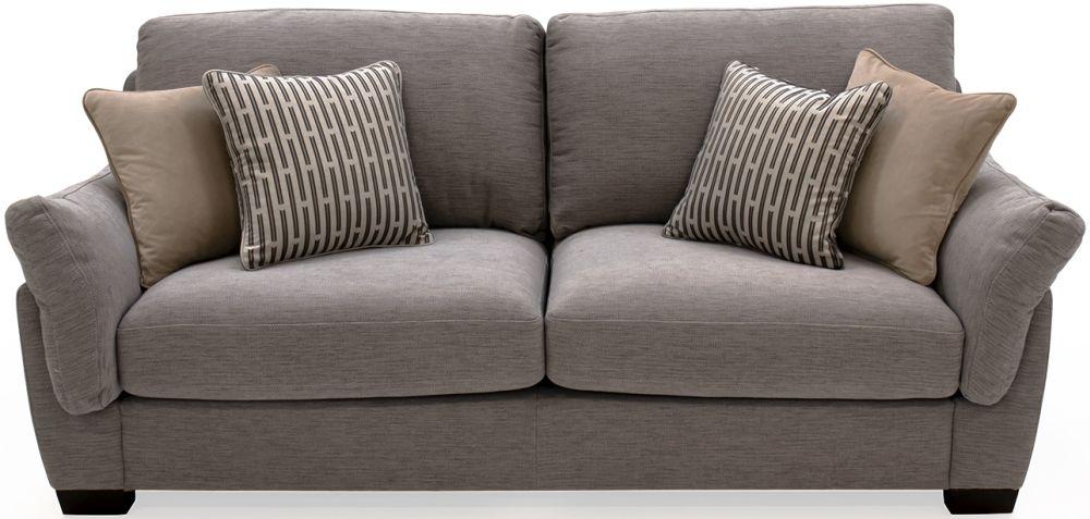 Vida Living Beckett Taupe Fabric 3 Seater Sofa