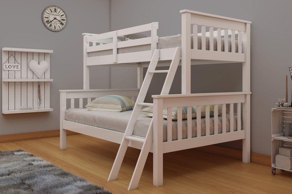 Vida Living Dux White Bunk Bed