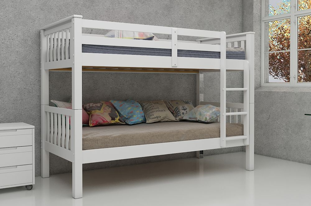 Vida Living Magnus White 3ft Bunk Bed