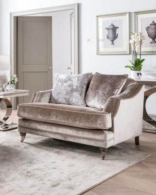 Vida Living Belvedere 2 Seater Sofa with 3 Scatter - Champagne Velvet