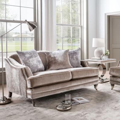 Vida Living Belvedere 4 Seater Sofa with 5 Scatter - Champagne Velvet