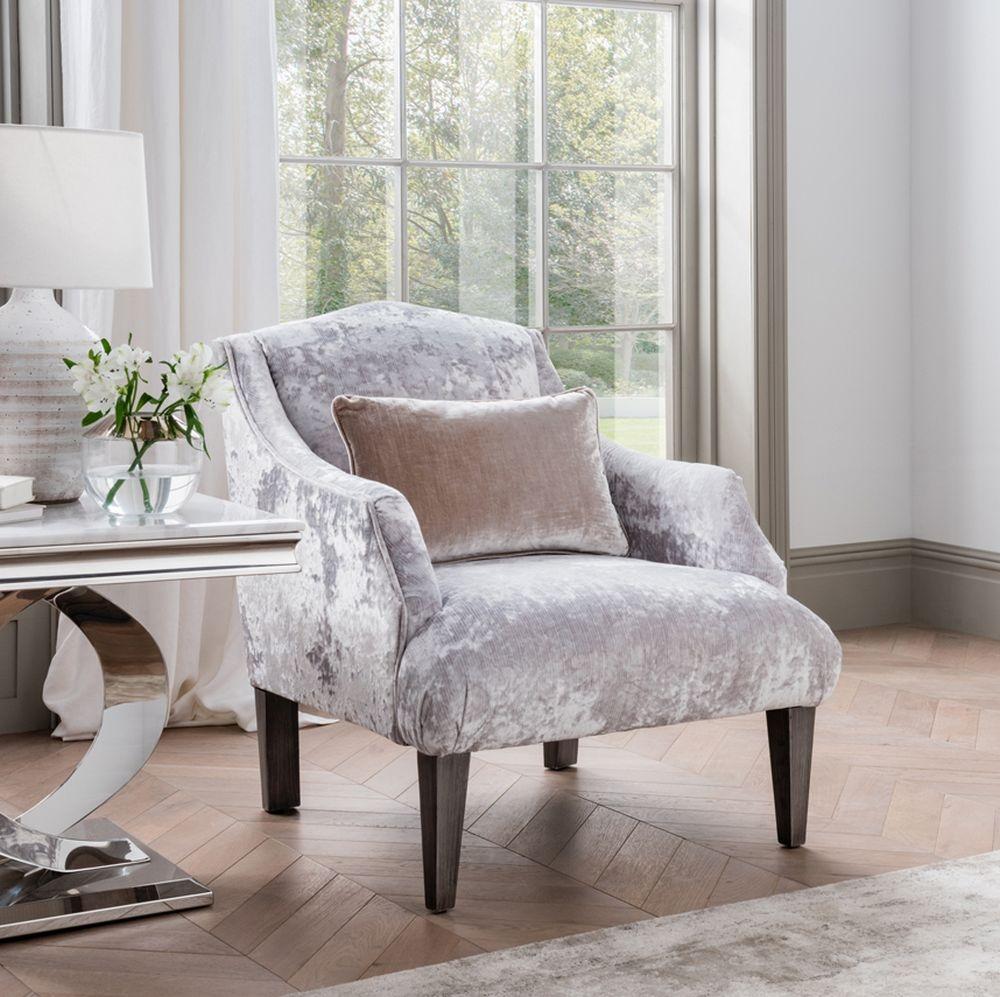 Vida Living Belvedere Champagne Velvet Accent Chair