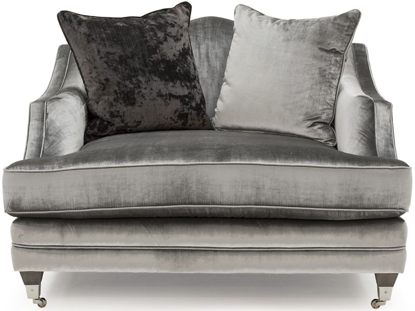 Vida Living Belvedere Pewter Velvet Snuggle with 2 Scatter
