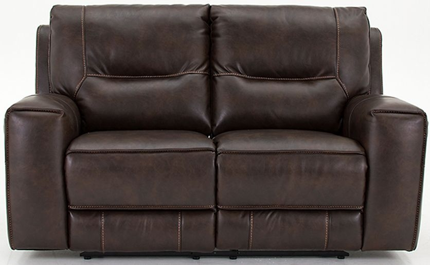 Vida Living Berkeley Banor Brown Leather 2 Seater Recliner Sofa