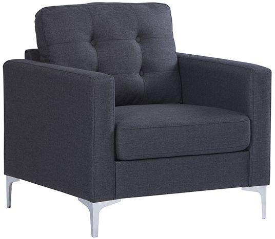 Vida Living Bern Charcoal Fabric Armchair
