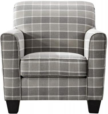 Vida Living Braemar Beige Check Fabric Accent Chair