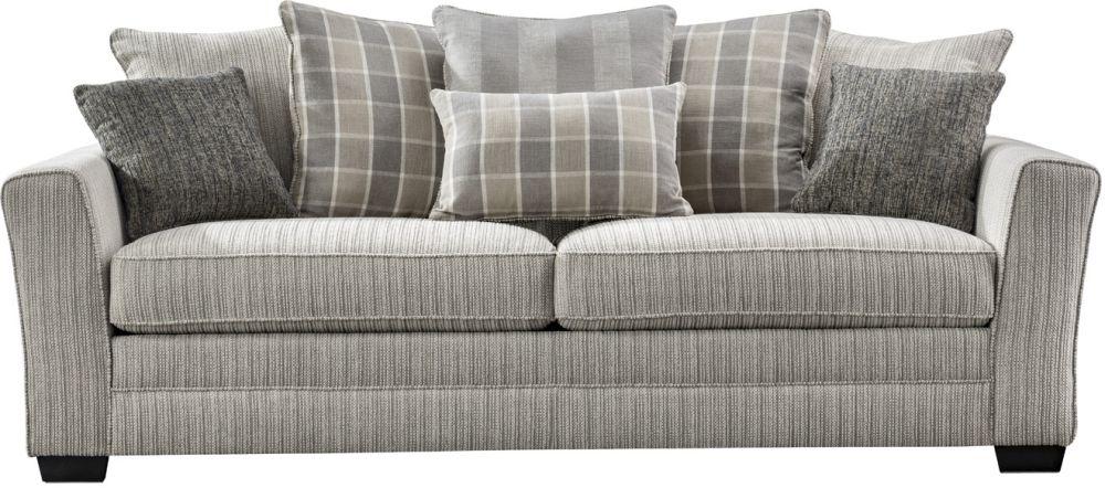 Vida Living Braemar Beige Fabric 3 Seater Sofa