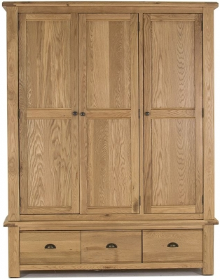 Vida Living Breeze Oak 3 Door Wardrobe
