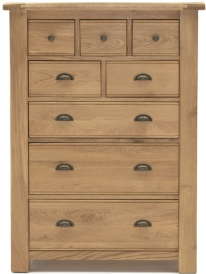 Vida Living Breeze Oak 8 Drawer Tall Chest