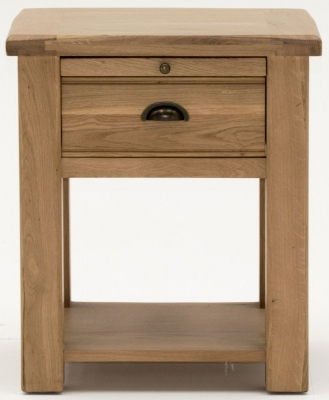 Vida Living Breeze Oak Bedside Cabinet - 1 Drawer