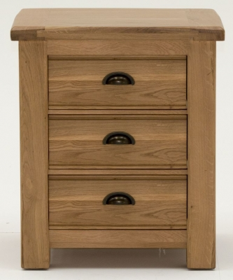 Vida Living Breeze Oak Bedside Cabinet - 3 Drawer