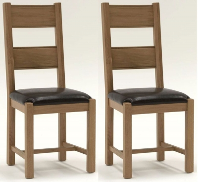 Vida Living Breeze Oak Brown Dining Chair (Pair)