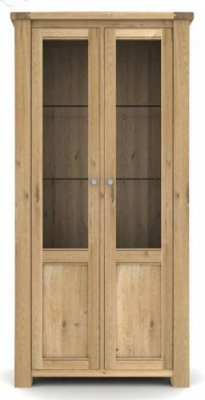 Vida Living Breeze Oak Display Cabinet