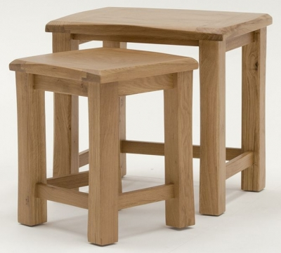Vida Living Breeze Oak Nest of Tables