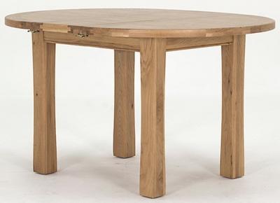 Vida Living Breeze Oak Dining Table - Round Extending