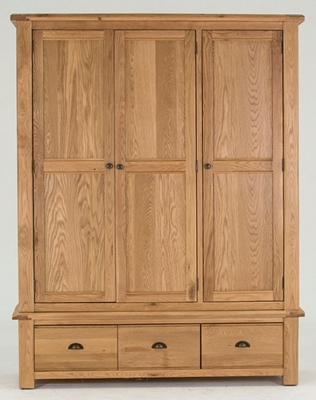 Vida Living Breeze Oak Wardrobe - 3 Door 3 Drawer