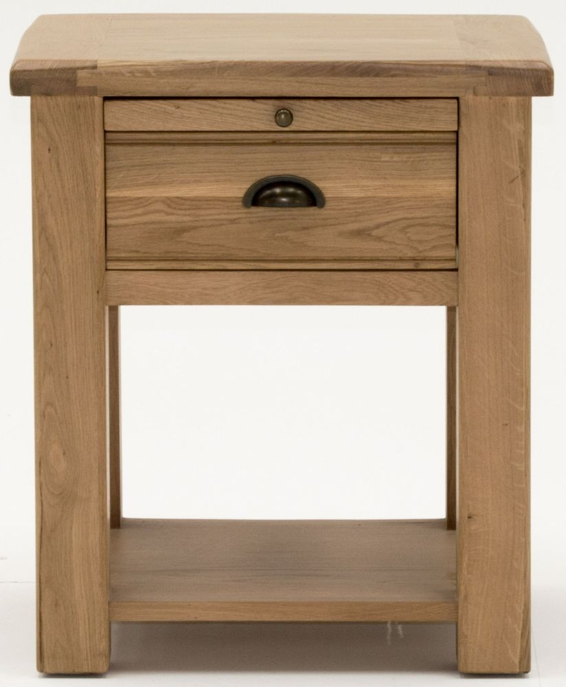 Vida Living Breeze Oak 1 Drawer Bedside Table