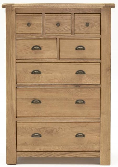 Buy Vida Living Breeze Oak 8 Drawer Tall Chest Online Cfs Uk