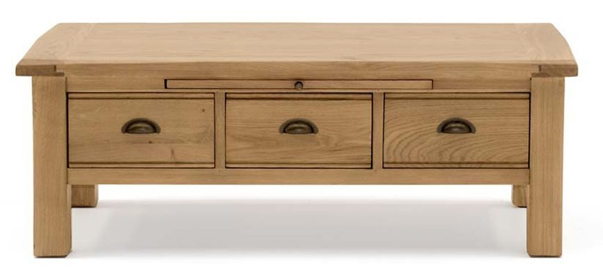 Vida Living Breeze Oak Storage Coffee Table - 3 Drawer