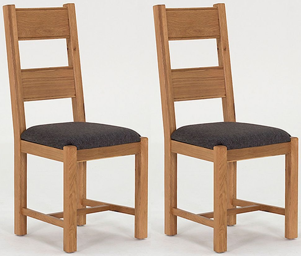 316848422fef Buy Vida Living Breeze Oak Grey Fabric Dining Chair (Pair) Online - CFS UK