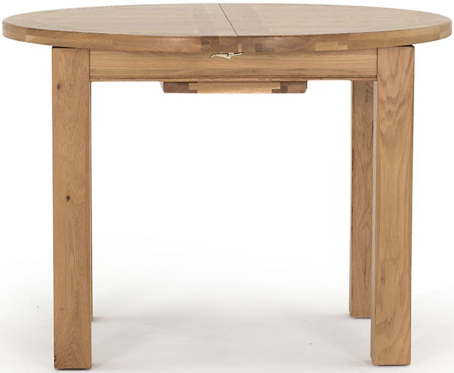 Vida Living Breeze Oak Round Extending Dining Table - 107cm-140cm