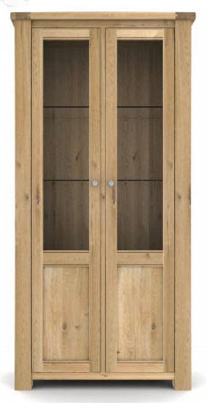 Vida Living Breeze Oak 2 Door Display Cabinet