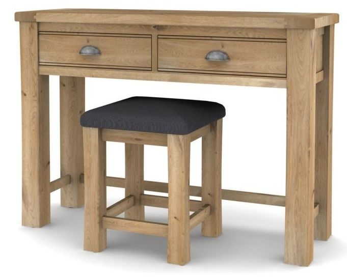 Vida Living Breeze Oak Dressing Table with Stool