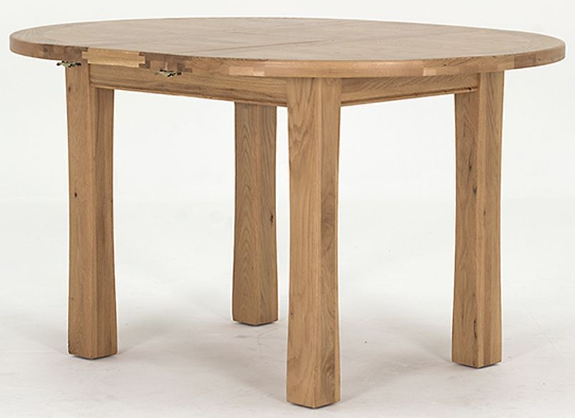 Vida Living Breeze Oak Dining Table - Round Extending
