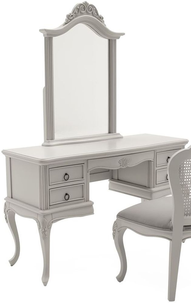 Vida Living Camille Dressing Table and Mirror - Grey
