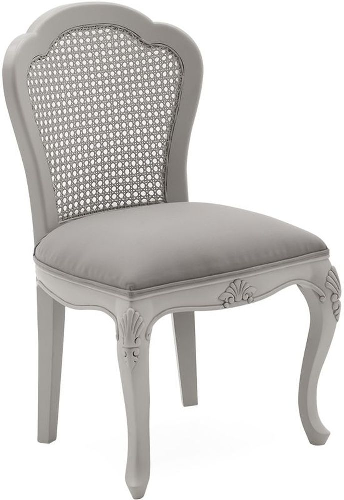 Vida Living Camille Grey Painted Dressing Chair
