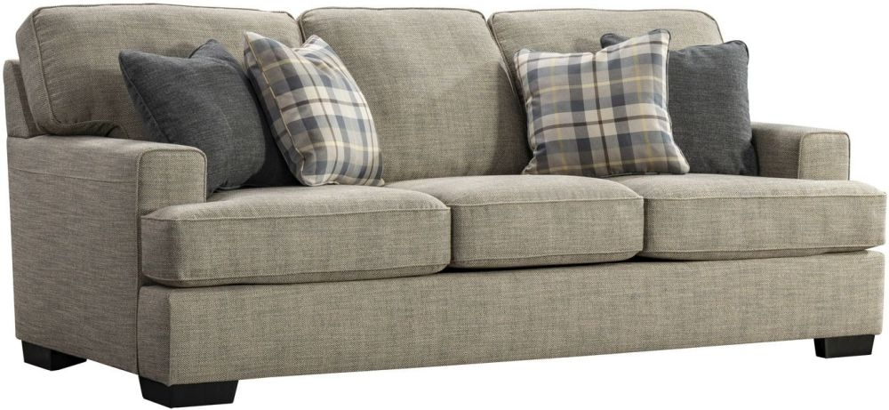 Vida Living Canterbury Beige Fabric 3 Seater Sofa