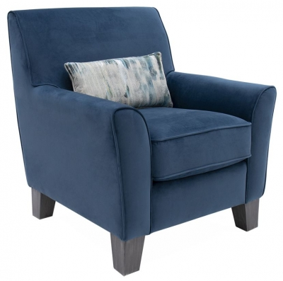 Vida Living Cantrell Blue Fabric Accent Chair