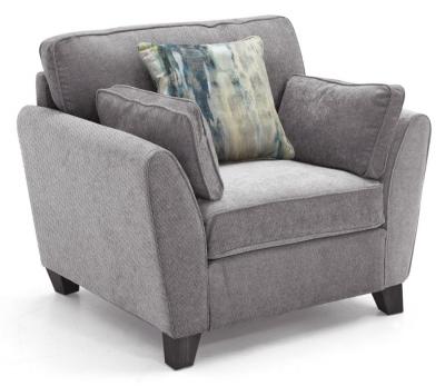 Vida Living Cantrell Grey Fabric Armchair