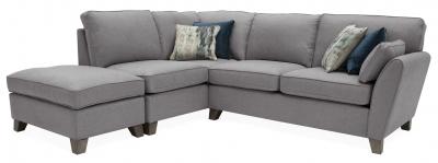 Vida Living Cantrell Grey Fabric Left Hand Facing Corner Sofa