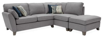 Vida Living Cantrell Grey Fabric Right Hand Facing Corner Sofa