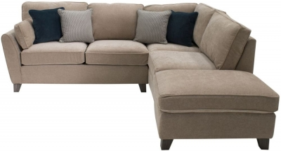 Vida Living Cantrell Almond Fabric Right Hand Facing Corner Group with 2 Scatter Cushions