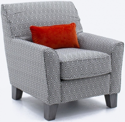 Vida Living Cantrell Graphite Fabric Accent Chair