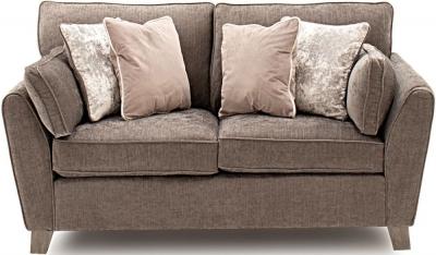 Vida Living Cantrell Mushroom Fabric 2 Seater Sofa