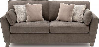 Vida Living Cantrell Mushroom Fabric 3 Seater Sofa