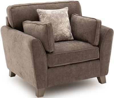 Vida Living Cantrell Mushroom Fabric Armchair