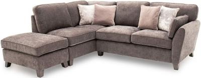 Vida Living Cantrell Mushroom Fabric Left Hand Facing Corner Sofa
