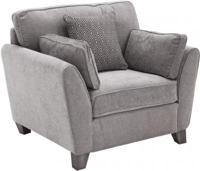 Vida Living Cantrell Silver Fabric Armchair
