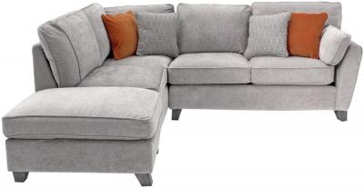 Vida Living Cantrell Silver Fabric Left Hand Facing Corner Sofa