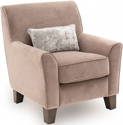 Vida Living Cantrell Taupe Fabric Accent Chair